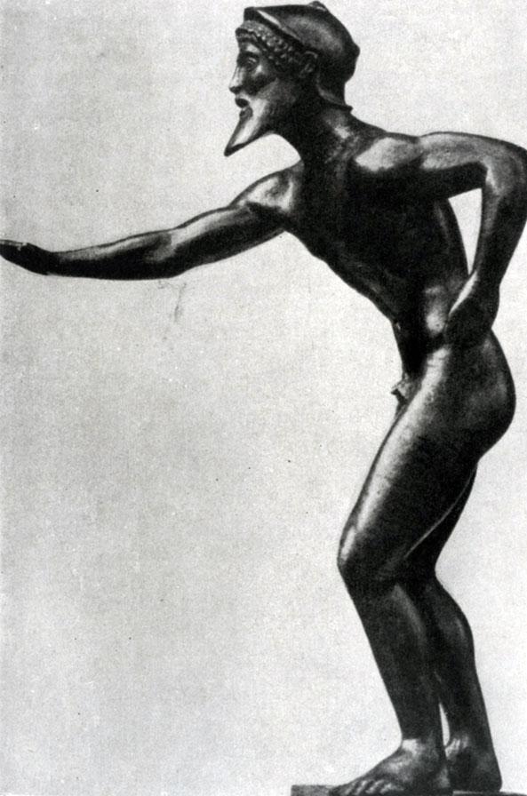 136 а. Бегун. Бронзовая статуэтка из Олимпии. Первая четверть 5 в. до н. э. Тюбинген. Университет.
