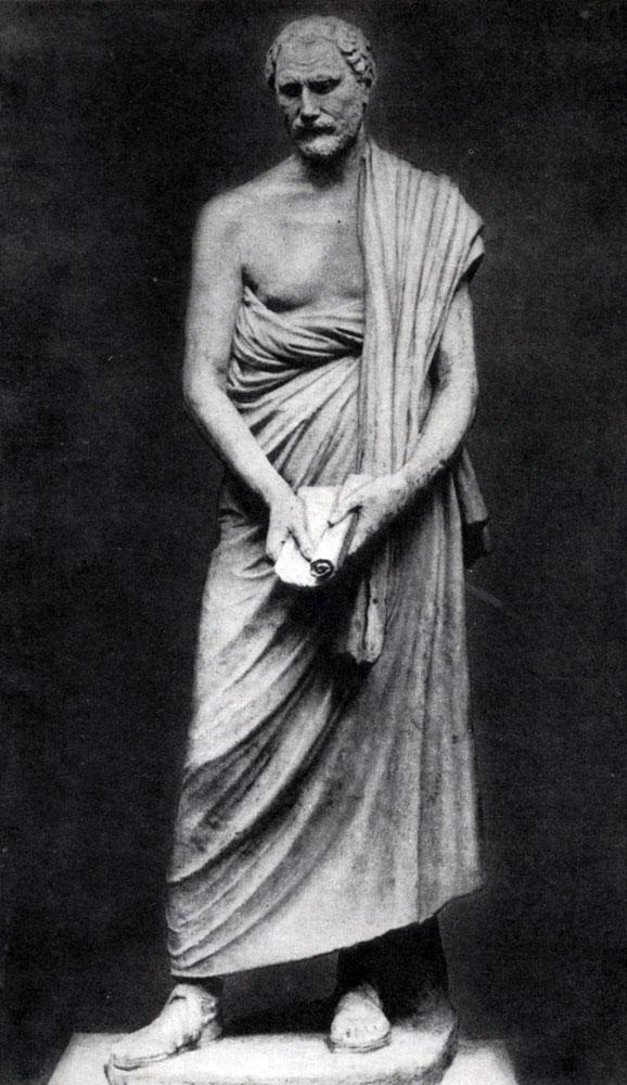 229. Полиевкт. Статуя Демосфена. Около 280 г. до н. э. Мраморная римская копия с утраченного оригинала. Рим. Ватикан.