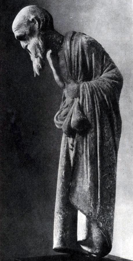 236 а. Старый учитель. Терракотовая статуэтка из Аттики. Париж. Лувр.