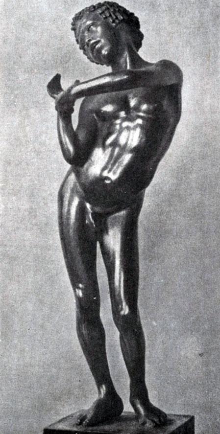 236 6. Мальчик-нубиец. Бронзовая статуэтка из Александрии. Париж. Национальная библиотека.