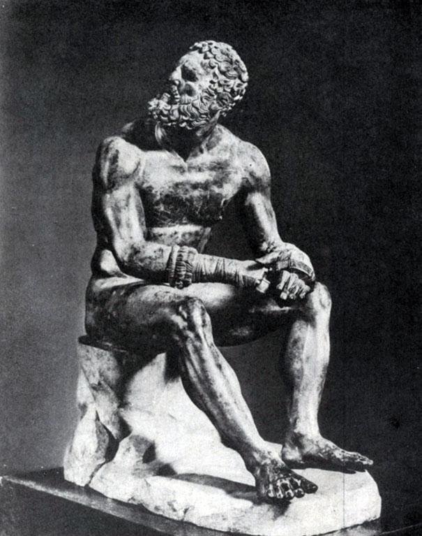 238 6. Аполлоний, сын Нестора. Статуя кулачного бойца. Бронза. 1 в. до н. э. Рим. Музей Терм.
