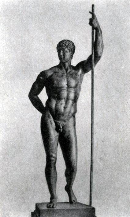 239 6. Статуя эллинистического правителя (так называемый Диадох). Бронза. 3—2 вв. до н. э. Рим. Музей Терм.