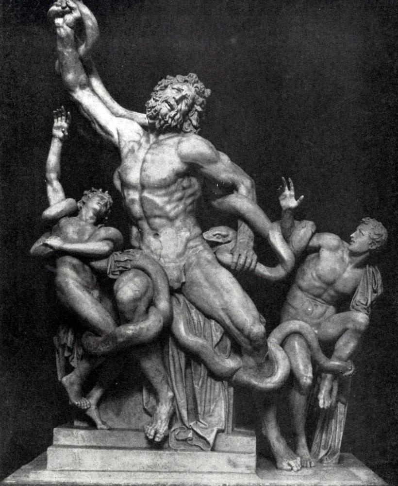 248. Агесандр, Полидор и Афинодор. Лаокоон. Мрамор. Около 25 г. до н. э. Рим. Ватикан.