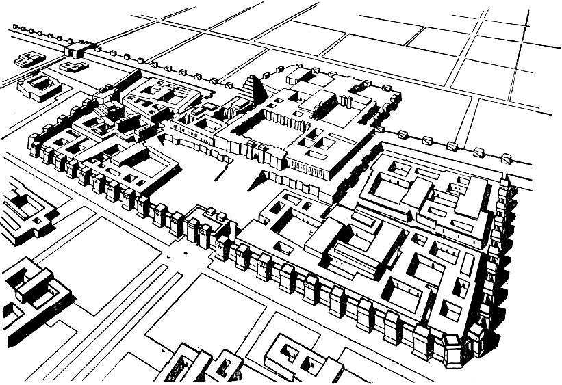 Дворец Саргона II в Дур-Шаррукине. Реконструкция.
