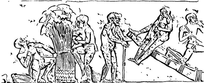 Сбор папируса. Рельеф из Меира.