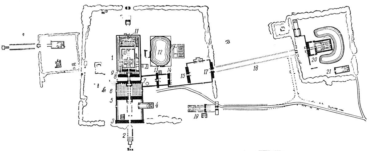 План храмов в Карнаке 1.