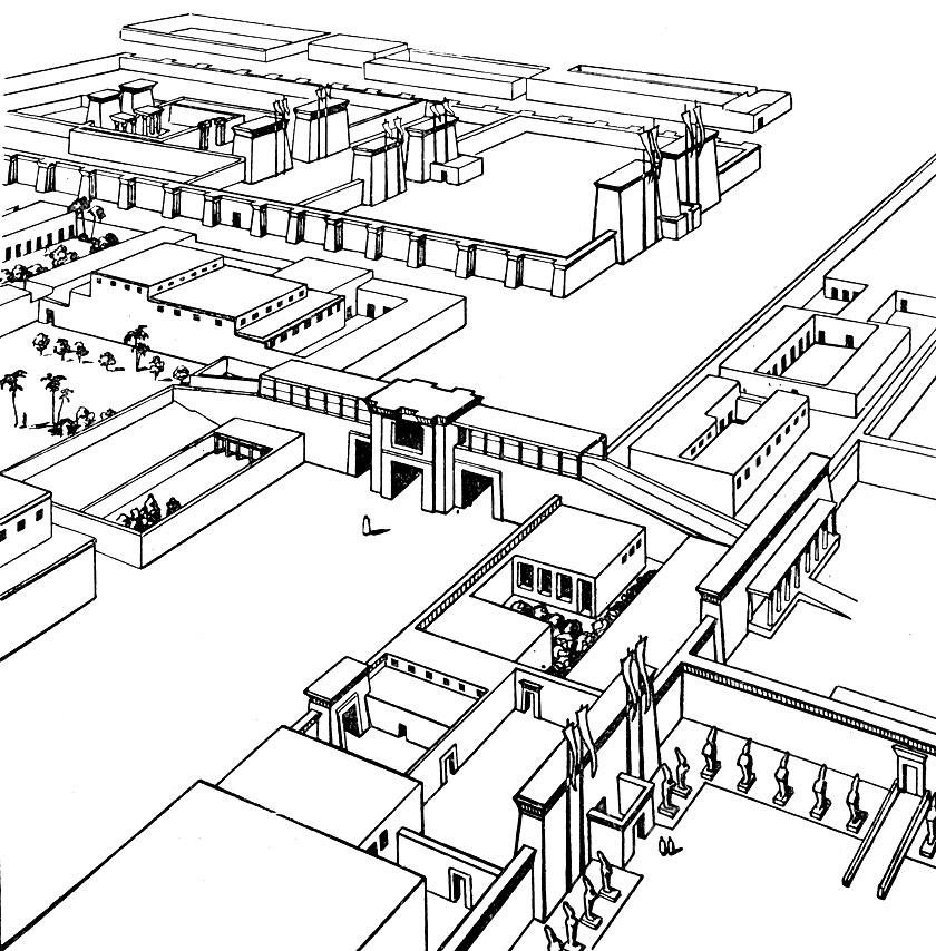 Дворцы в Ахетатоне.Реконструкция.
