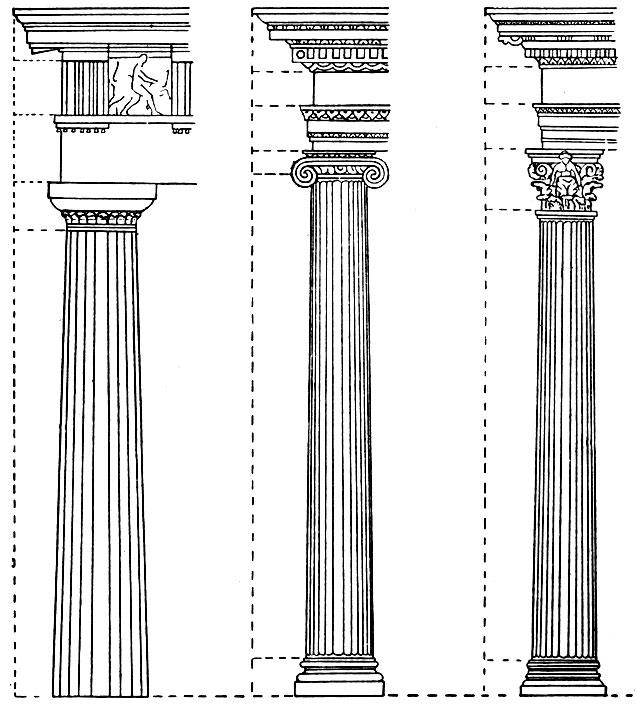греческих архитектурных