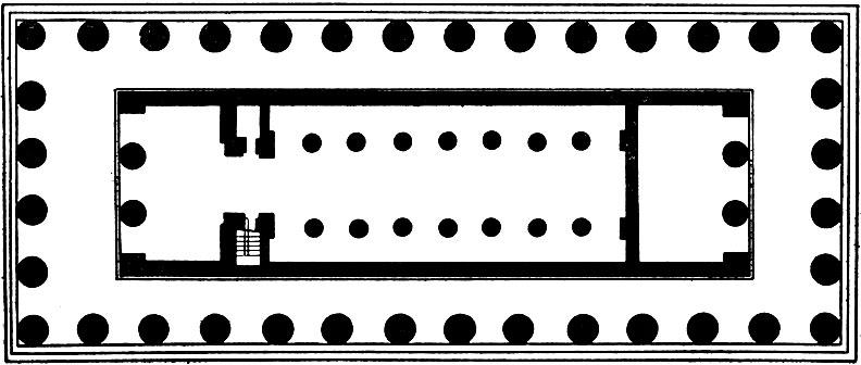 План храма Посейдона в Пестуме.