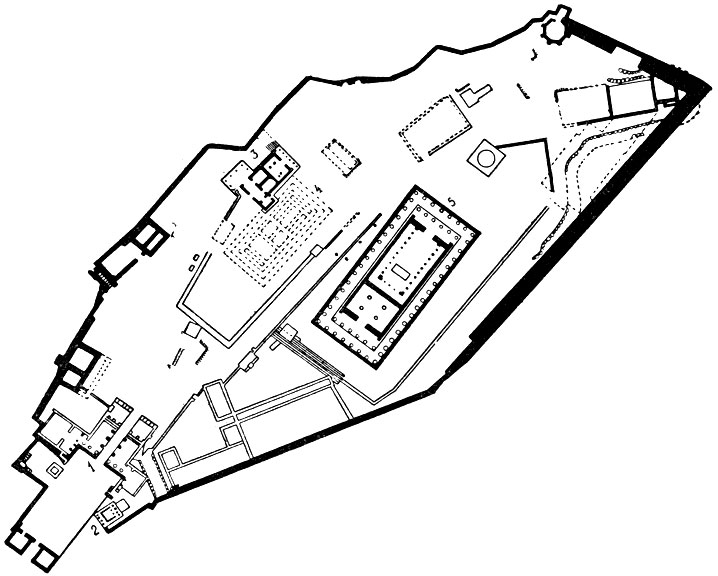 План Афинского акрополя:1.