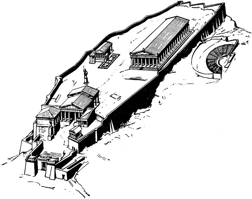 Афинский акрополь.
