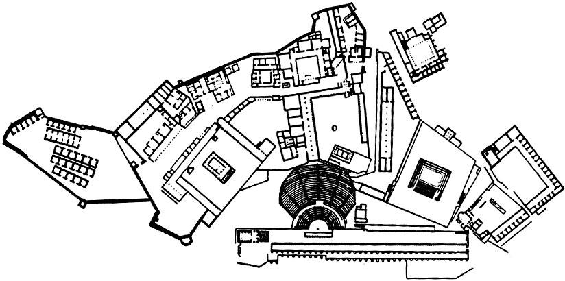 План пергамского акрополя.