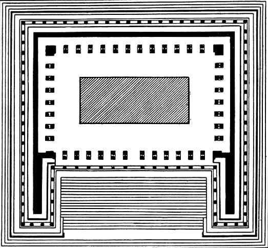 План алтаря Зевса в Пергаме.