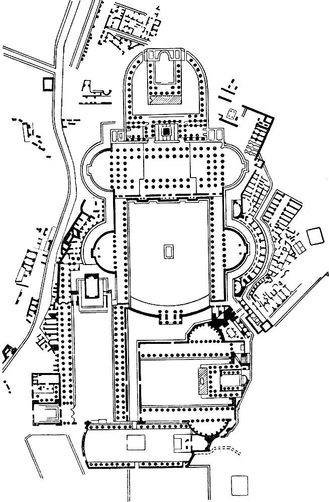План форумов Траяна (вверху),