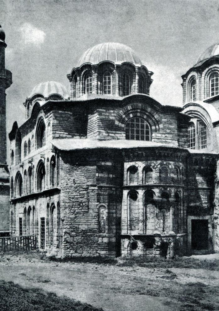 40.  Церковь Паммакариста (Фетие-Джами) в Константинополе. 2-я половина 13 - начало 14 в. Вид с юго-востока.