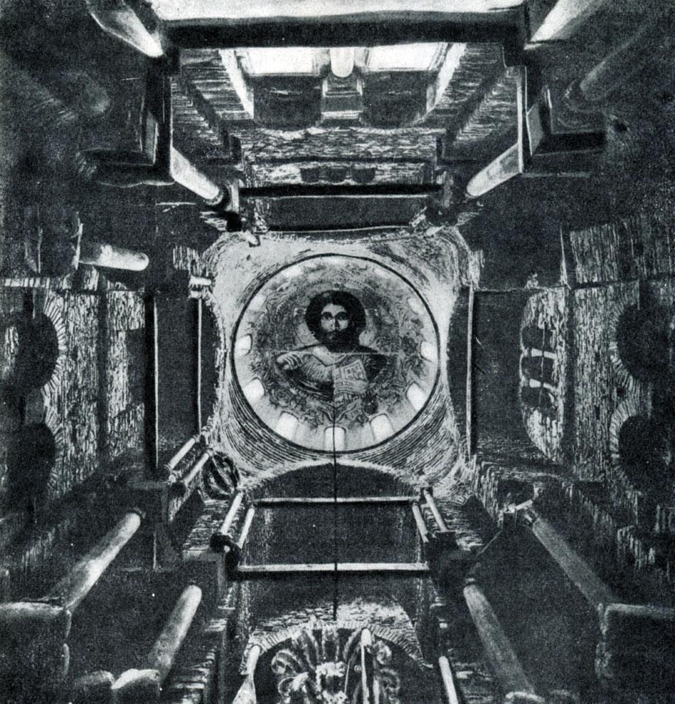 41.  Церковь Панагия Парагоритисса в Арте. 13 в. Подкупольное пространство.