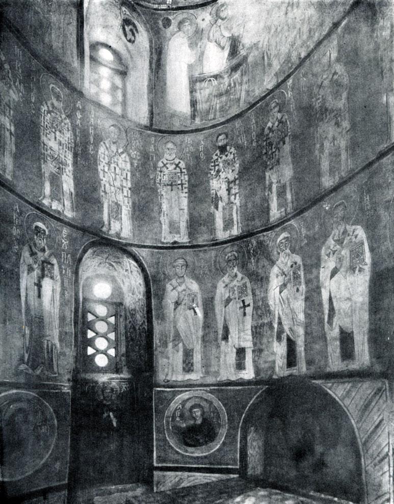 92. Церковь Спаса Нередицы близ Новгорода. Роспись абсиды. 1199 г.