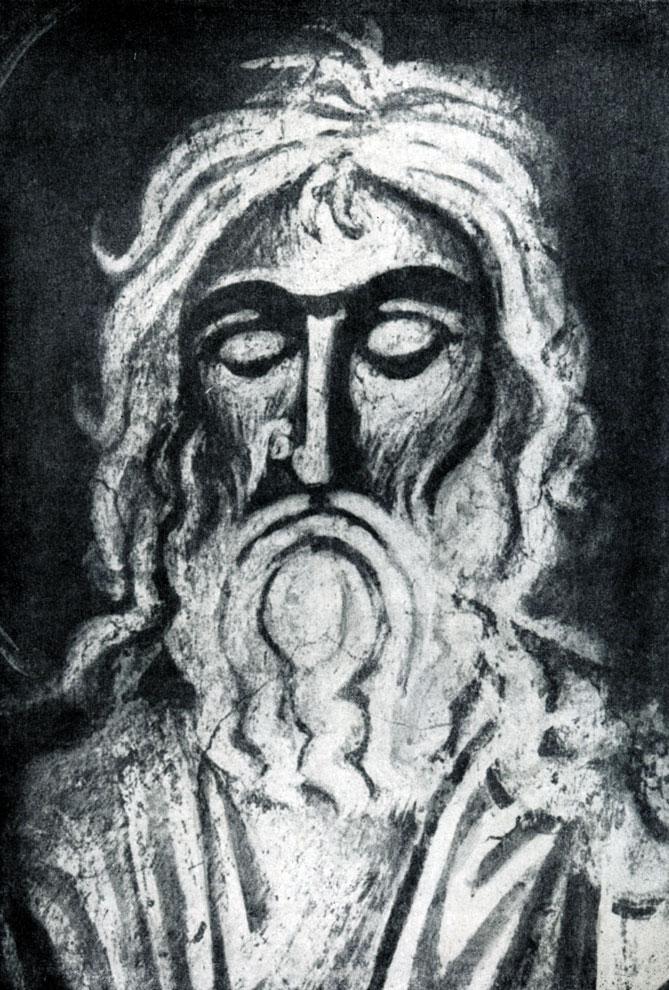 93. Святой. Фрагмент фрески церкви Спаса Нередицы близ Новгорода. 1199 г.