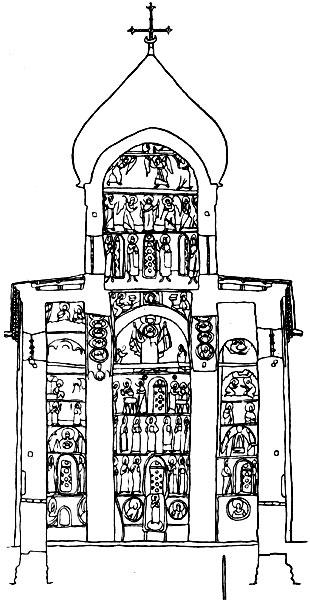 Церковь Спаса Нередицы.Поперечный разрез.