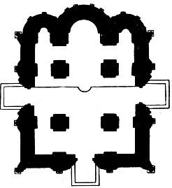 Церковь Покрова на Нерли. 1165 г. План.