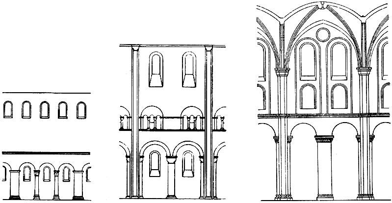 Схема членения стены среднего