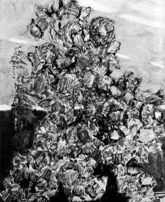 92. М. Врубель. Глицинии. Акварель. Москва, Третьяковская галерея.(M. Vroubel. Glycines. Aquarelle. Galerie Tretiakov. Moscou.)