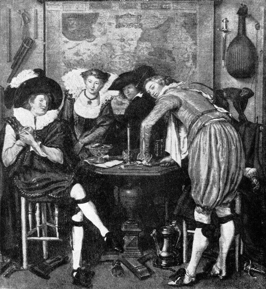Виллем Бейтевег. Веселое общество. После 1614 г. Будапешт, Музей изобразительных искусств.