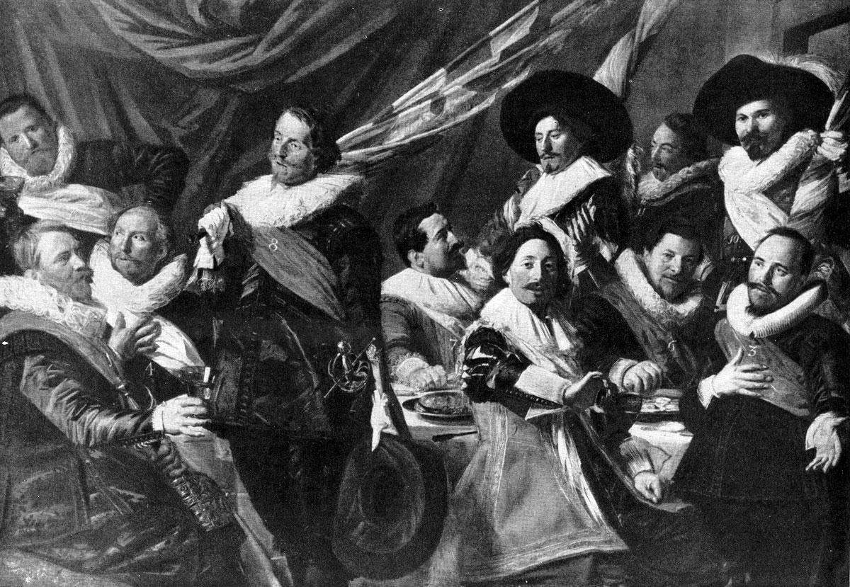Франс Хальс. Групповой портрет офицеров стрелковой роты св. Георгия. 1627 г. Гарлем, музей Франса Халъса.