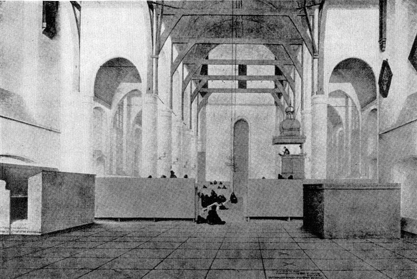 Питер Санредам. Интерьер церкви в Ассендельфте. 1649 г. Амстердам, Рейксмузей.