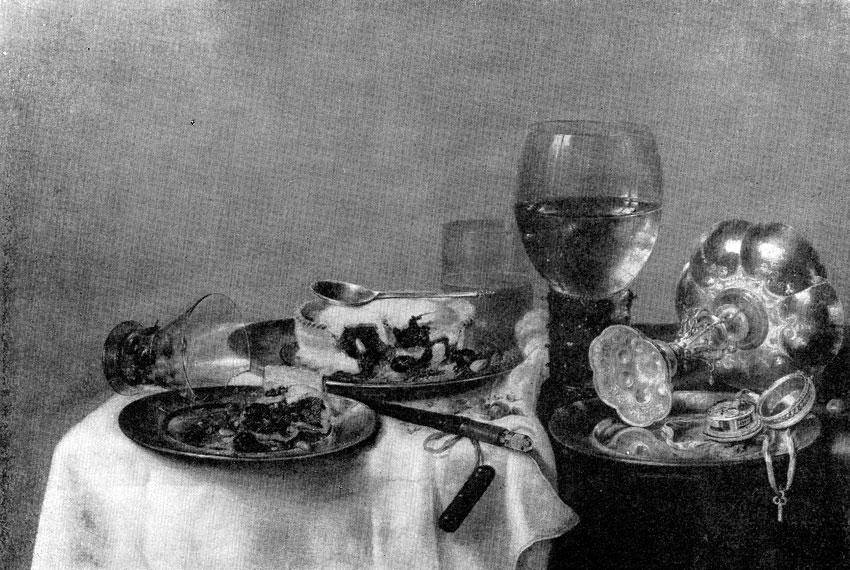 Виллем Xеда. Завтрак с ежевичным пирогом. 1631 г. Дрезден, Картинная галлерея.