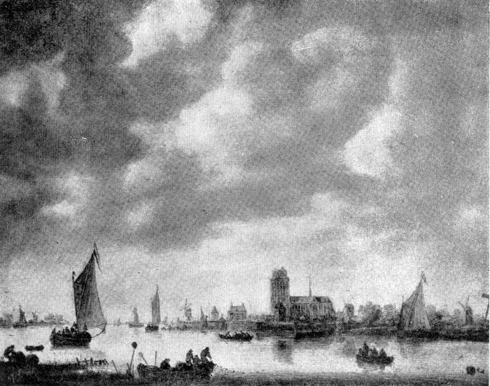 Ян ван Гойен. Вид Дордрехта. 1640-1650-е гг. Амстердам, Рейксмузей.