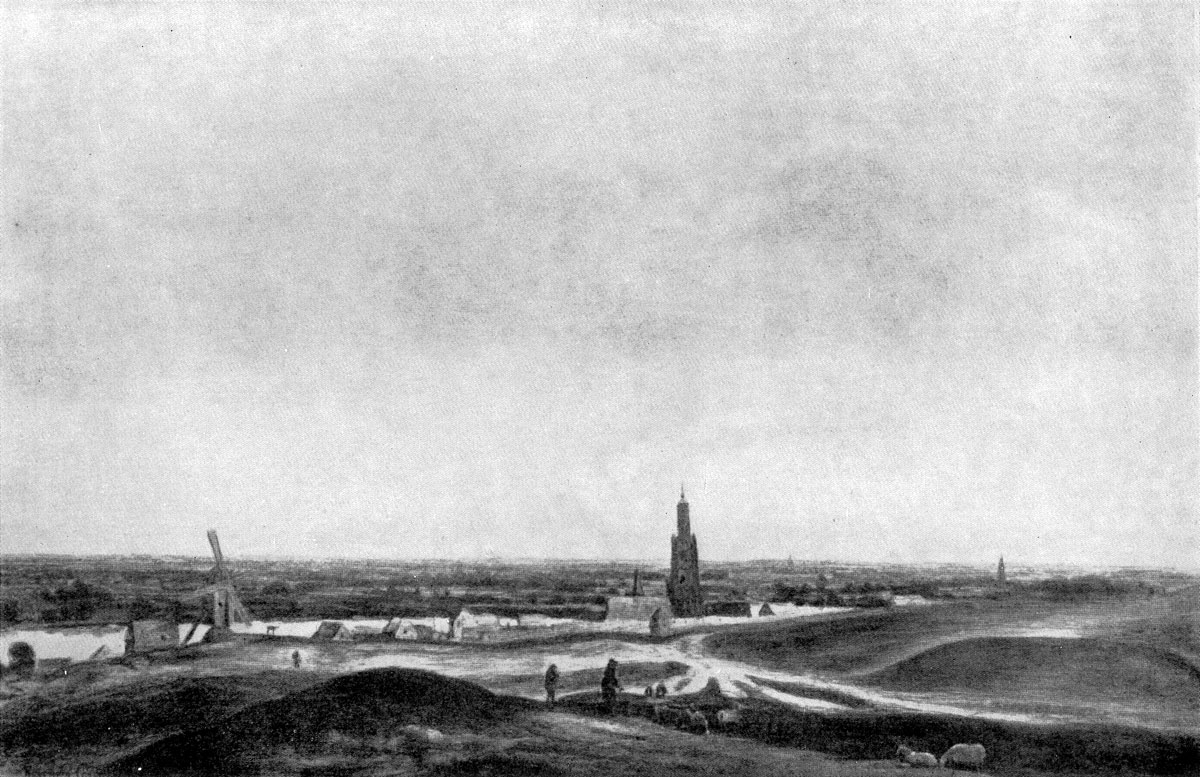 Геркулес Сегерс. Пейзаж с городом Ренен. 1620 -е гг. Берлин.