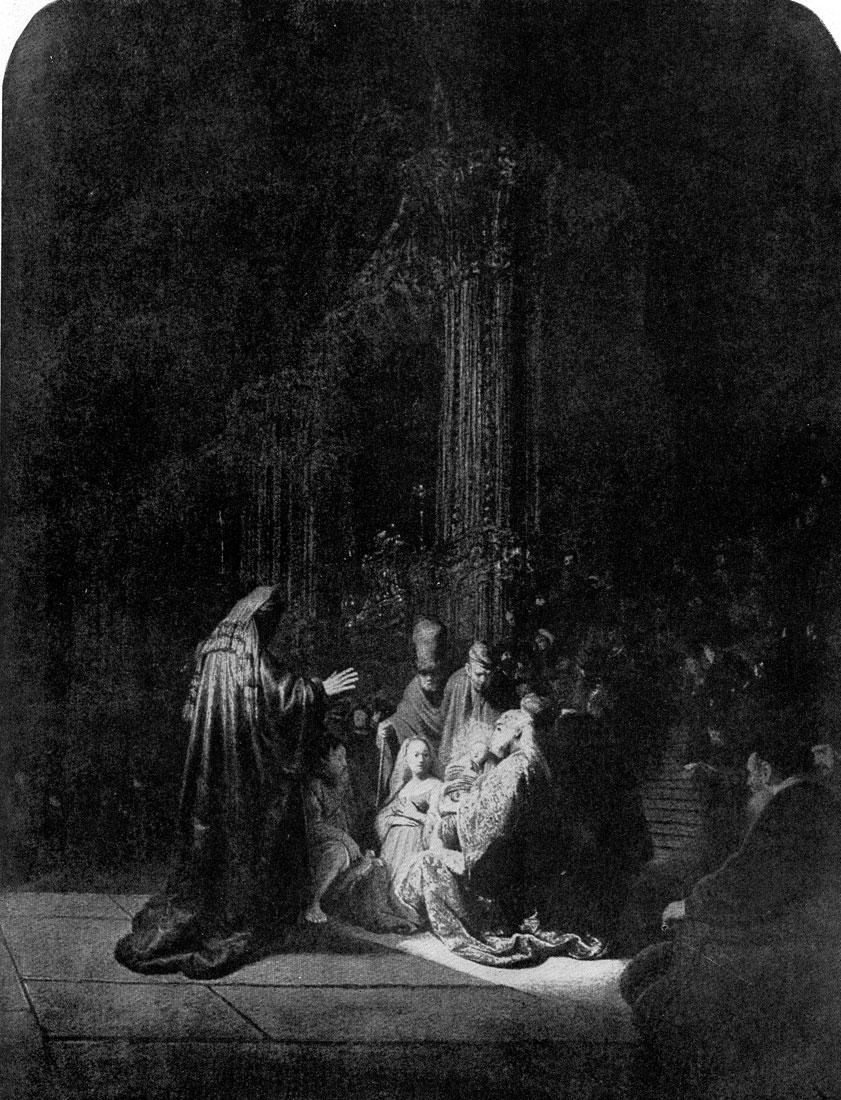 Рембрандт. Симеон во храме. 1631 г. Гаага, Маурицхейс.