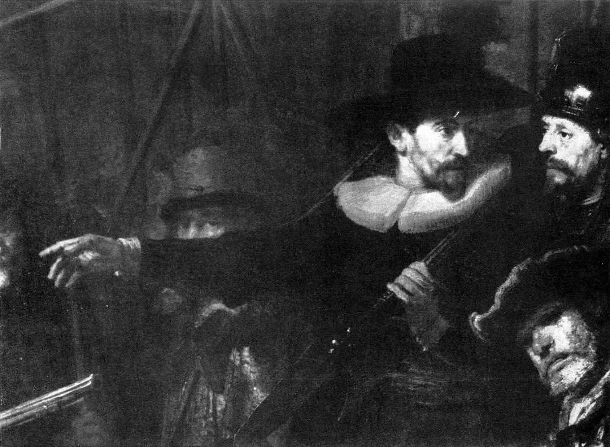Рембрандт. Ночной дозор. Фрагмент.