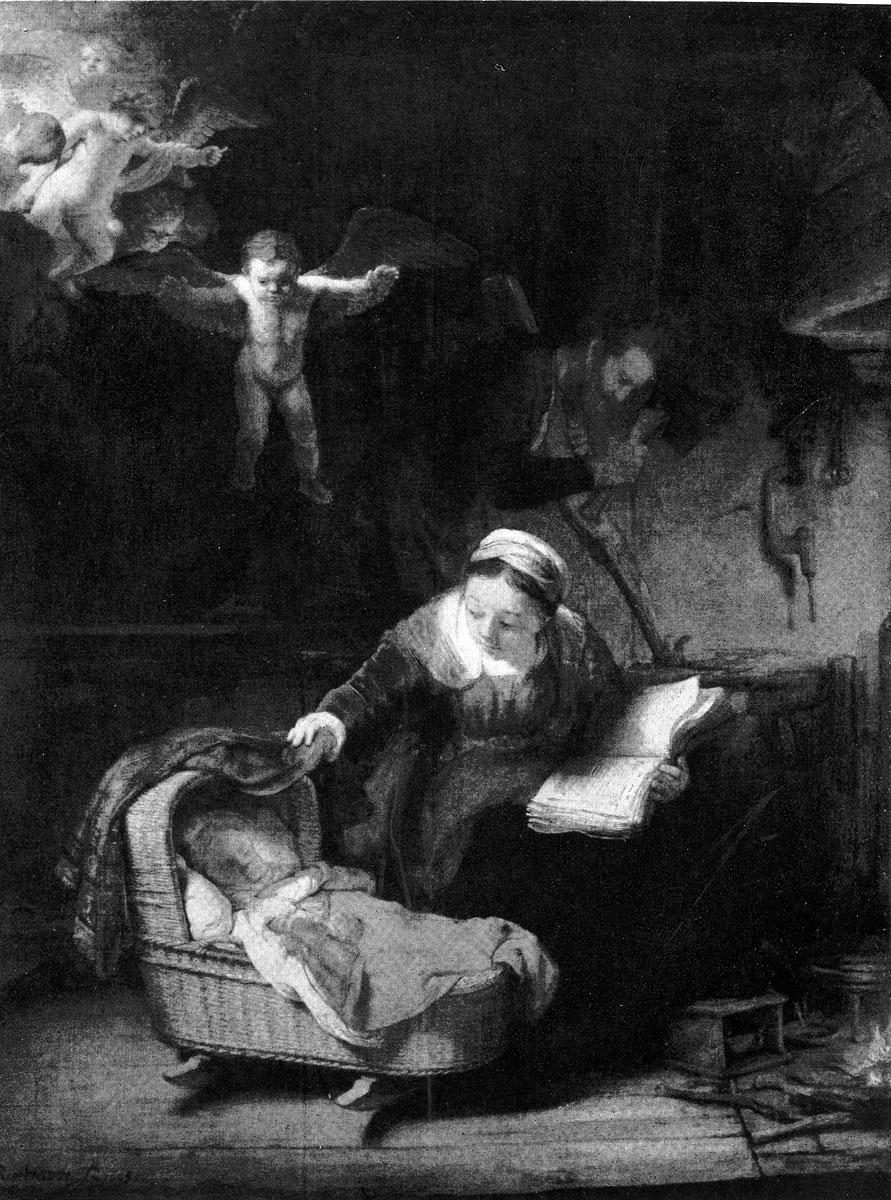 Рембрандт. Святое семейство. 1645 г. Ленинград, Эрмитаж.