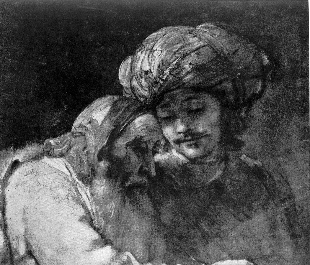 Рембрандт. Иаков, благословляющий сыновей Иосифа. Фрагмент. 1656 г. Касселъ, Галлерея.
