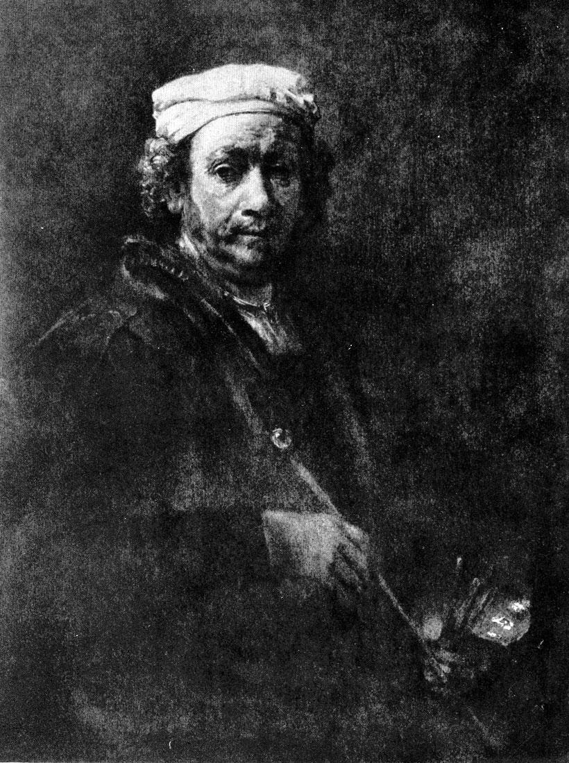 Рембрандт. Автопортрет. 1660 г. Париж, Лувр.