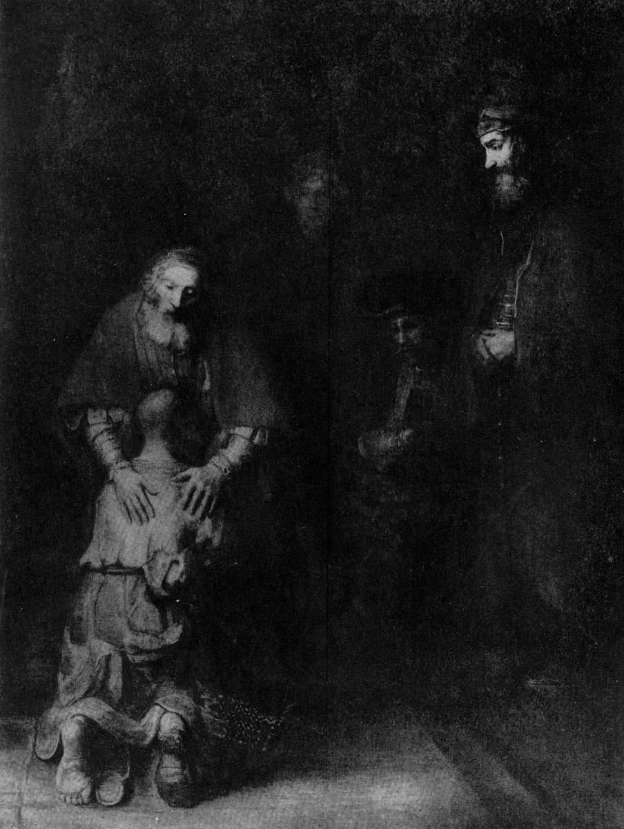 Рембрандт. Возвращение блудного сына. Ок. 1668-1669 гг. Ленинград, Эрмитаж.