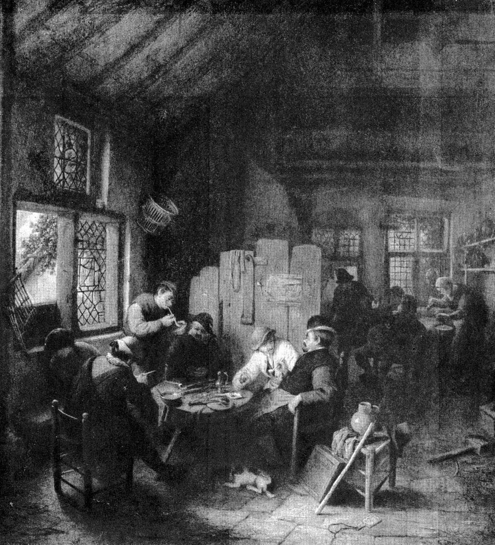 Адриан ван Остаде. В деревенском кабачке. 1660 г. Дрезден, Картинная галлерея.