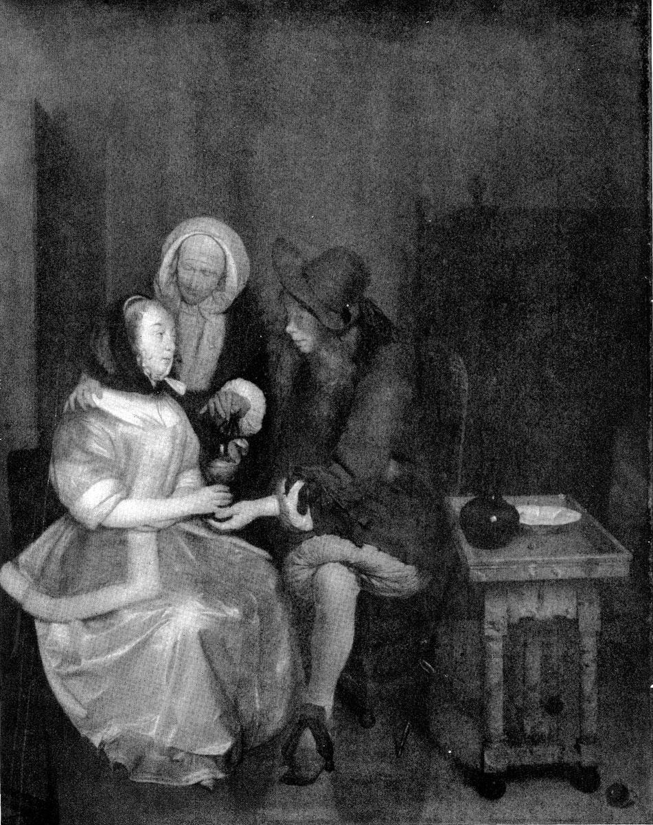 Герард Терборх. Бокал лимонада. Между 1655 и 1660 гг. Ленинград, Эрмитаж.