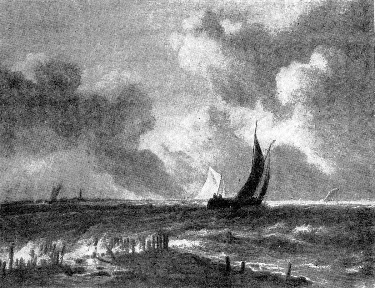 Якоб ван Рейсдаль. Бурное море. Между 1665 и 1669 гг. Франкфурт-на-Майне, частное собрание.
