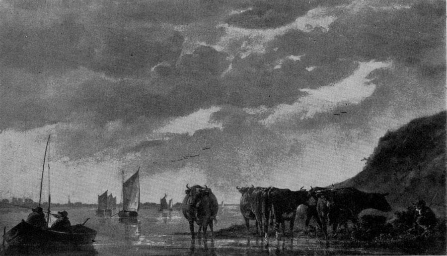Альберт Кейп. Пастух с коровами у реки. 1650-е гг. Лондон, Национальная галлерея.