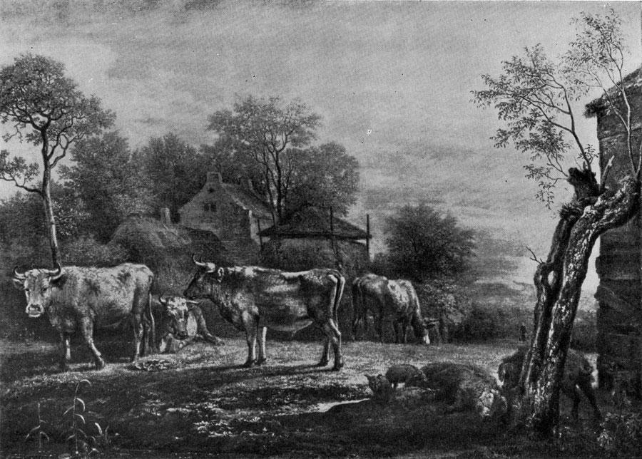 Пауль Поттер. Коровы на пастбище. 1652 г. Гаага, Маурицхейс.