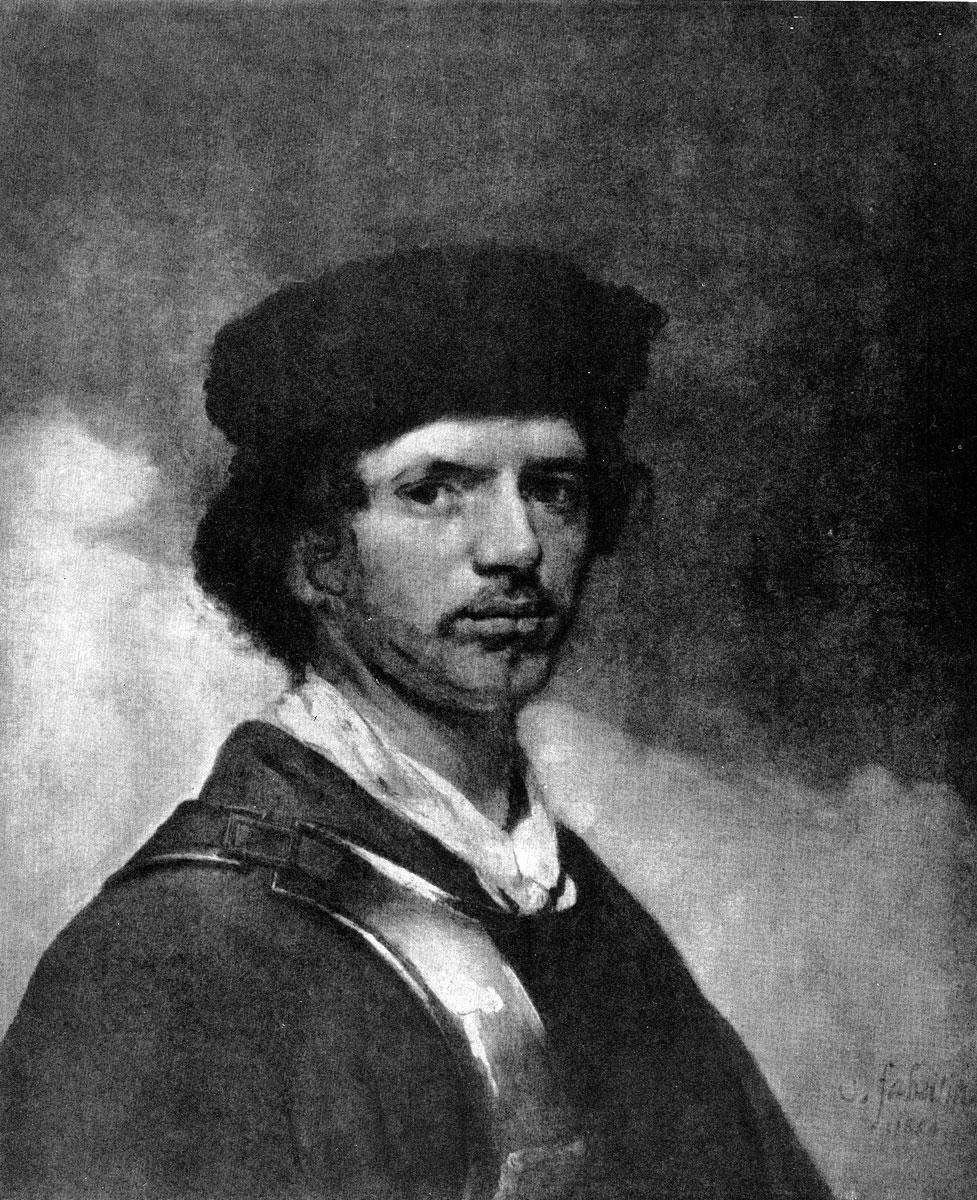 Карель Фабрициус. Автопортрет. 1654 г. Лондон, Национальная галлерея.