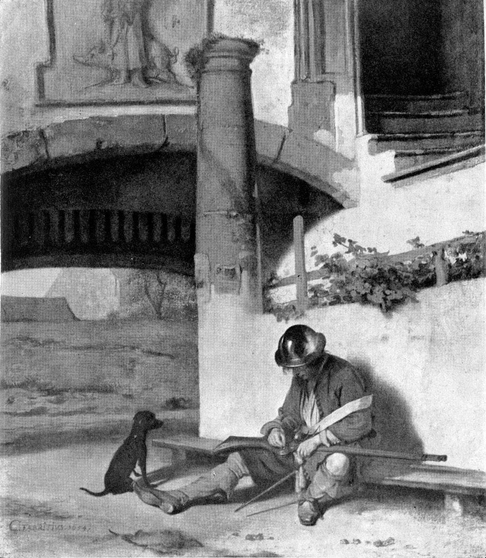 Карель Фабрициус. Часовой. 1654 г. Шверин, Музей.