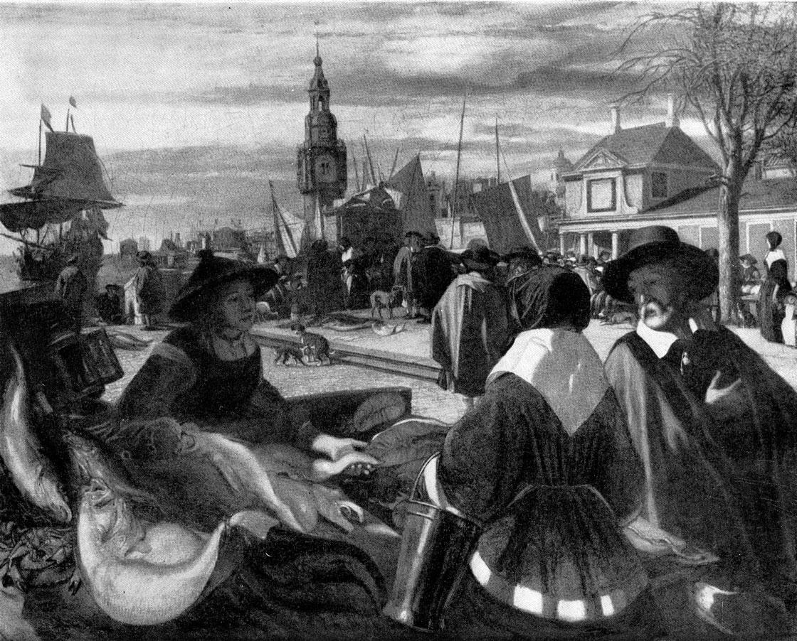 Эмануэль де Витте. Рынок в порту. Ок. 1668 г. Москва, Музей изобразительных искусств им. А. С. Пушкина.