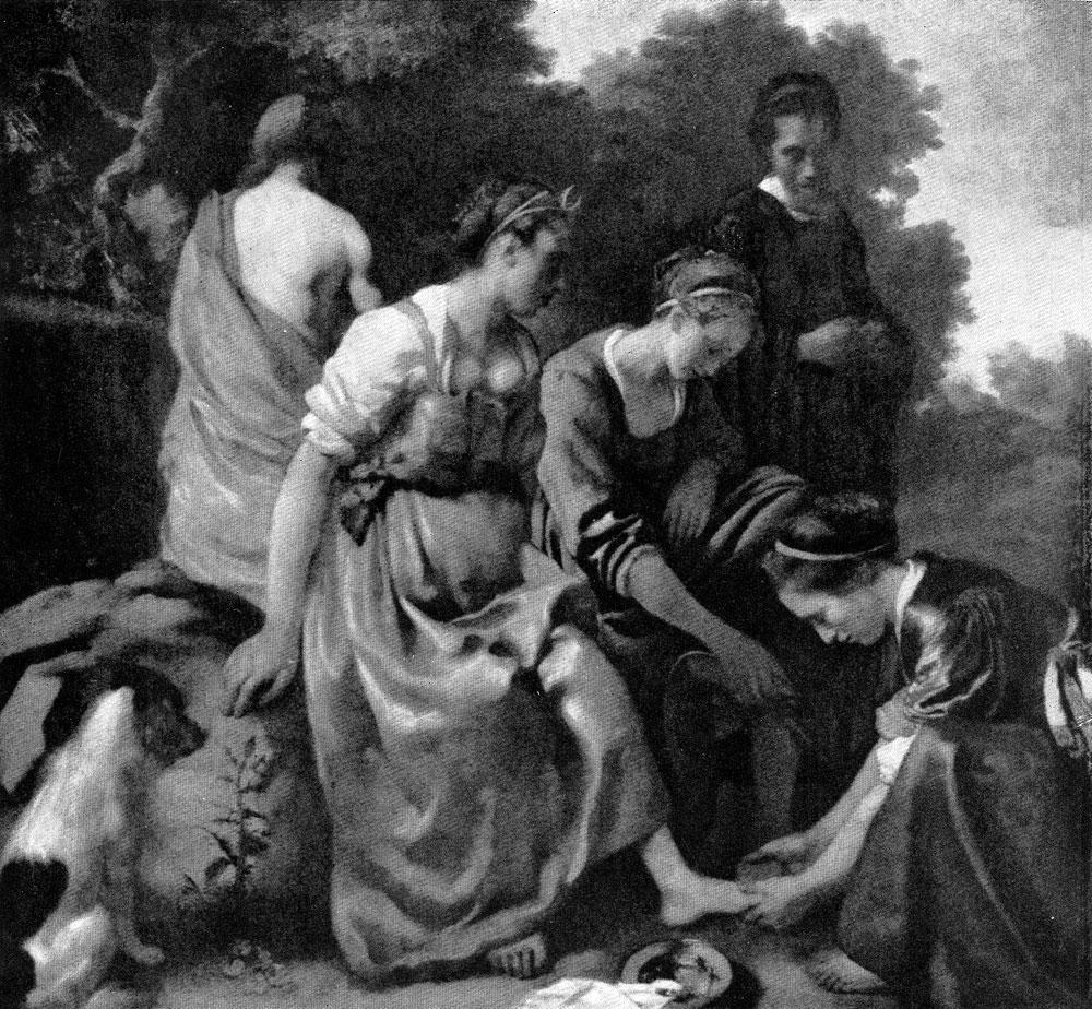 Ян Вермеер. Диана с нимфами. До 1656 г. Гаага, Маурицхейс.