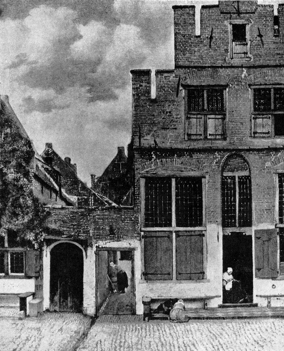 Ян Вермеер. Уличка. Ок. 1658 г. Амстердам, Рейксмузей.