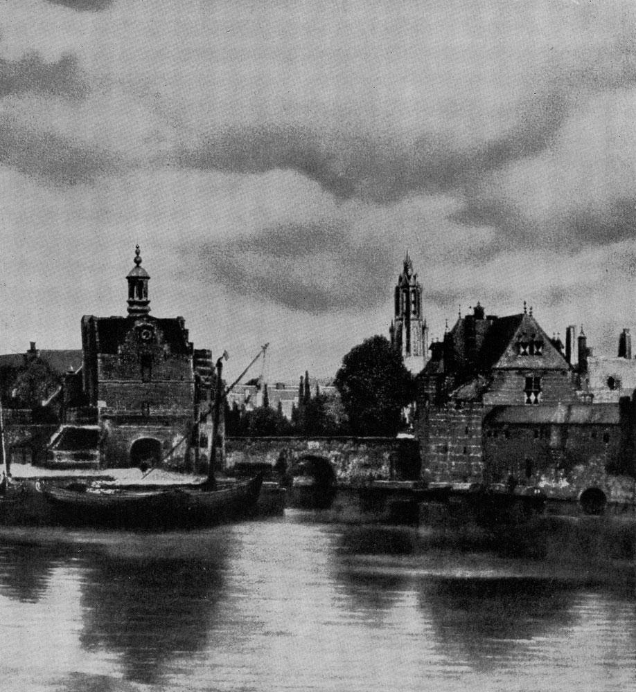 Ян Вермеер. Вид Дельфта. Фрагмент. Между 1658 и 1660 гг. Гаага, Маурицхейс.