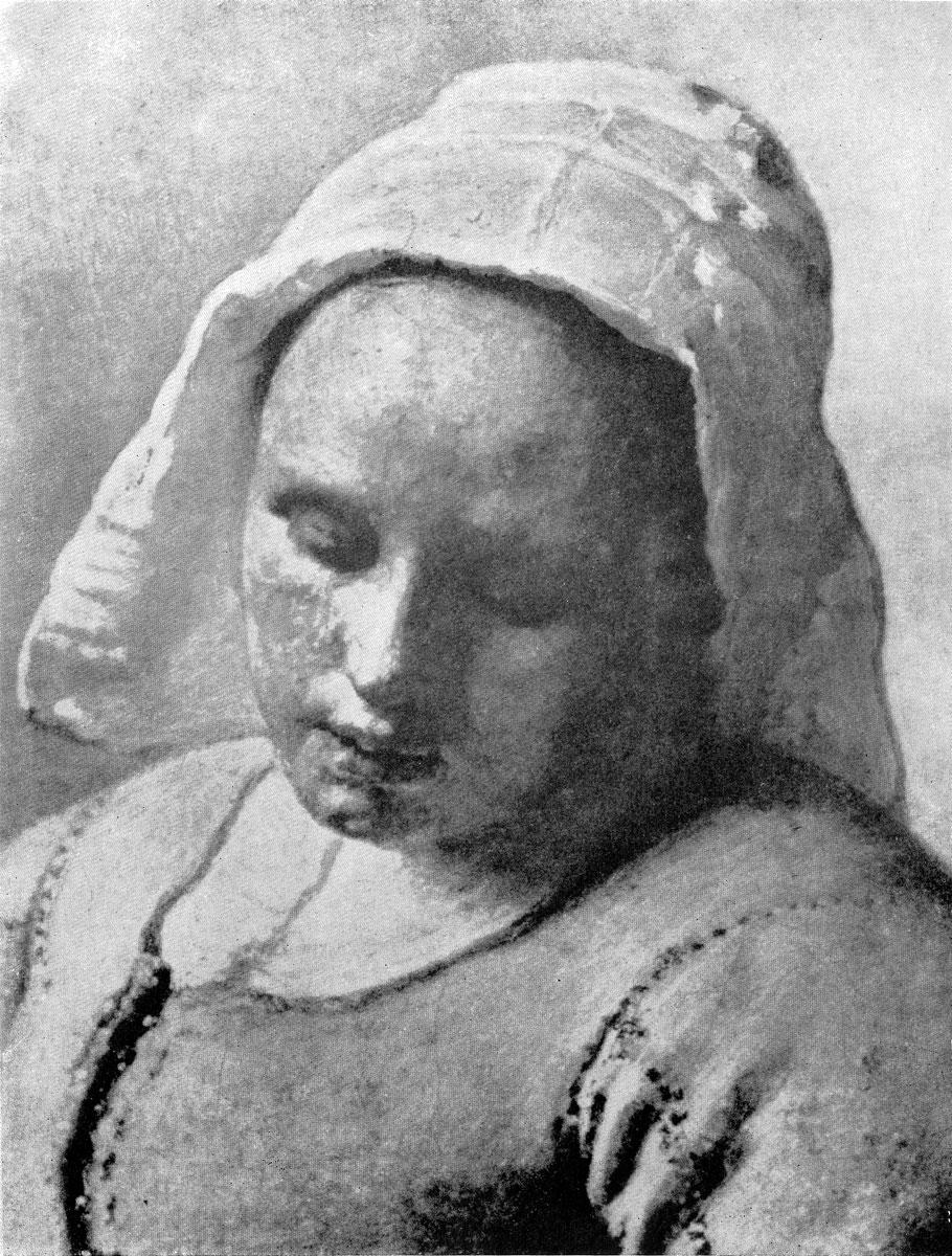 Ян Вермеер. Служанка с кувшином молока. Фрагмент. Между 1657 и 1660гг. Амстердам, Рейксмузей. Увеличено.